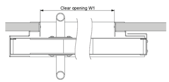 HBSB Single and double sliding door - clear opening for width