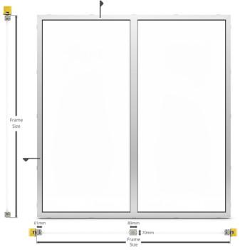 A60/AF70 Internal Fixed Frame Window/Partition - illustration