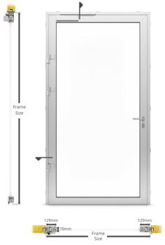 A60/AF70 Internal Single Hinged Door - illustration