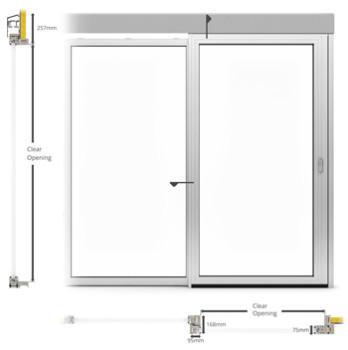 A60-AF75 External Single sliding door - illustration