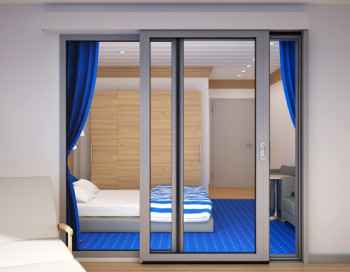A60-AF75 External Single Sliding Patio door