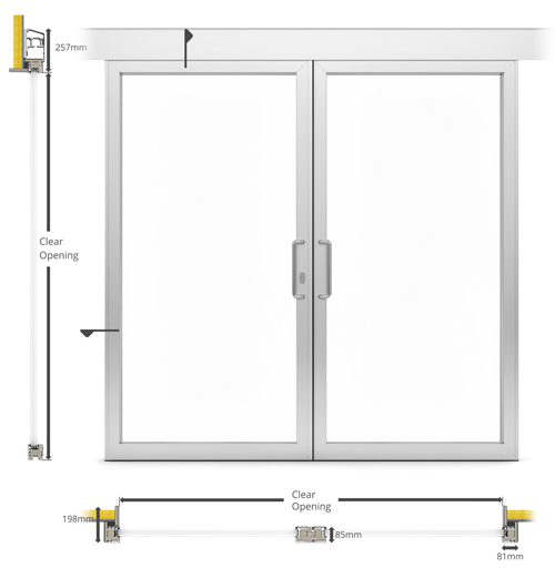 A60 af85 external double sliding patio type door bd for Double patio door width