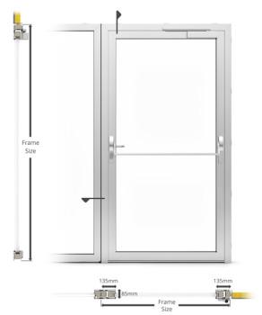 A60/AF85 External Single Hinged Door - illustration