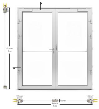 A60/AF85 Internal Double Hinged Door - illustration