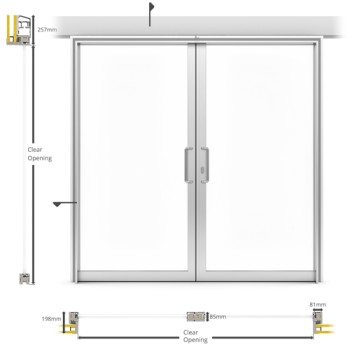 A60/AF85 Internal Double Sliding Door - illustration