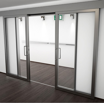 A60/AF85 Internal Double Sliding Door - detail