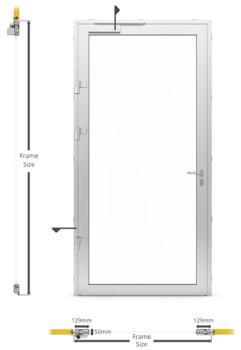 AF50 Internal Single Hinged Door - illustration