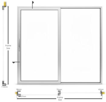 AF62 External Sliding Patio Type Door - illustration