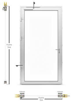 AF85 Internal Single Hinged Door - illustration