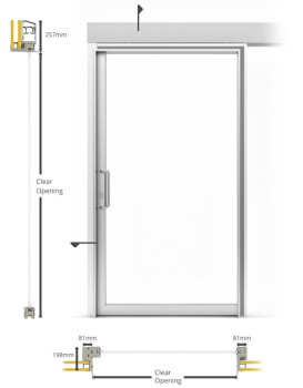 AF85 Internal Single Sliding Door - illustration