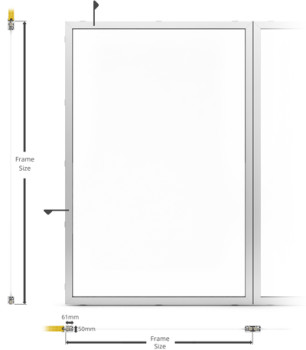 B15/AF50 Internal Fixed Frame Type Window/Partition - illustration