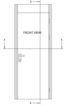 MS/MC Acoustic Type door - detail 1