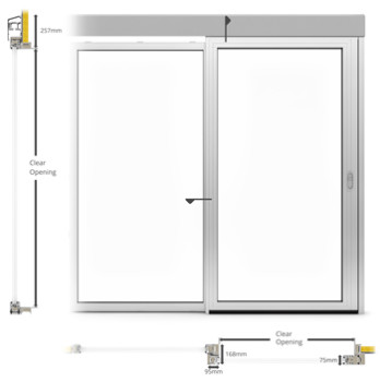 A60-AF75 External Single sliding door - illustration