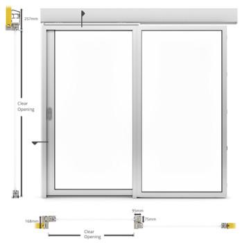 A60/AF75 Internal Single Sliding Door - illustration