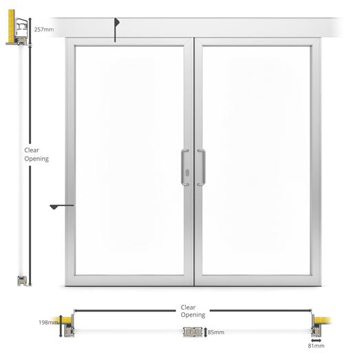 A af external double sliding patio type door bd