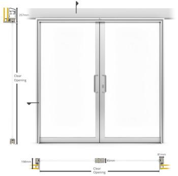 A60/AF85 Internal Double Sliding Door - illustration