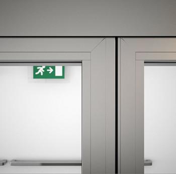 A60/AF85 Internal Double Sliding Door - detail