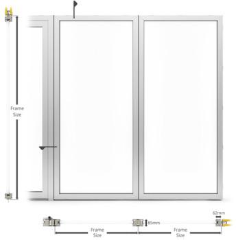 A60/AF85 Internal Fixed Frame Window/Partition - illustration
