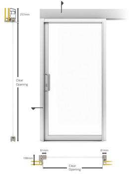 A60/AF85 Internal Single Sliding Door - illustration