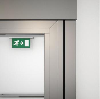 A60/AF85 Internal Single Sliding Door - detail