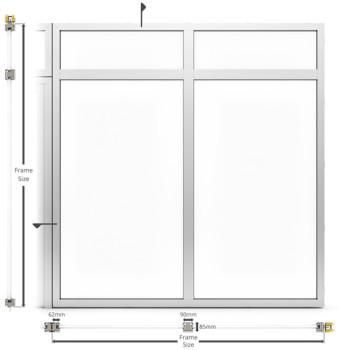 AF85 Internal Fixed Frame Window/Partition - illustration