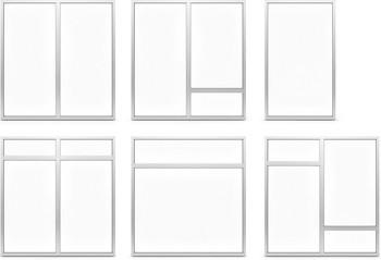 AF85 Internal Fixed Frame Window/Partition - design options